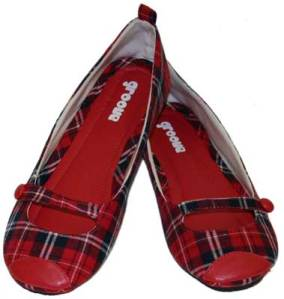 Groove Footwear, Plaid Mary Jane Vegan Flats $32.95
