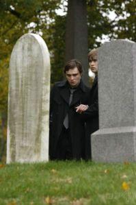 Chuck Bass at a funeral.